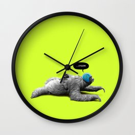 Speed Sloth Wall Clock