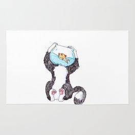 Fish Bowl Cat Rug