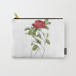 Flower in the Hand Carry-All Pouch