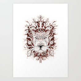 Spirit Lion Art Print