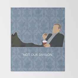 The Reichenbach Fall - Greg Lestrade Throw Blanket