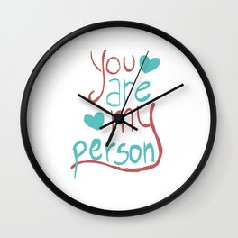My Person Wall Clock