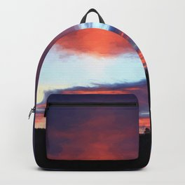 Sunrise on Swan Lake Flat Backpack