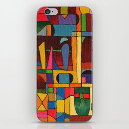 Colors In Collision 1 - Geometric Abstract of Colors that Clash iPhone Skin