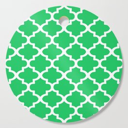 Arabesque Architecture Pattern In Zen Green Cutting Board