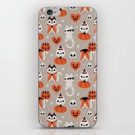Halloween Kitties (Gray) iPhone Skin