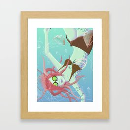 Jellyfish Fields Framed Art Print