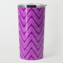 Vivid Purple Mauve Chevron Pattern Travel Mug