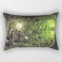 Harry and Dumbledore in the Horcrux Cave Rectangular Pillow
