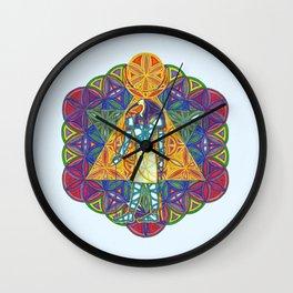 Sacred Geometry Thoth Mandala II Wall Clock