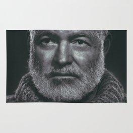 Earnest Ernest Hemingway Rug