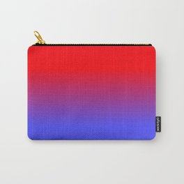 Neon Red and Bright Neon Blue Ombre Shade Color Fade Carry-All Pouch