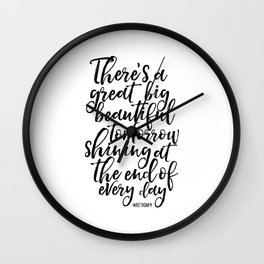 PRINTABLE Art, Quote,Kids Room Decor,Nursery Decor,Quote Prints,Typography Print Walt Wall Clock