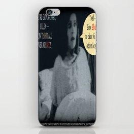 "'Ellen Hutter', FROM THE FILM "" Nosferatu vs. Father Pipecock & Sister Funk (2014)"" iPhone Skin"