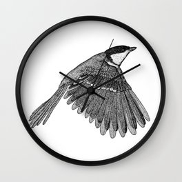 A Great tit named Titus Wall Clock