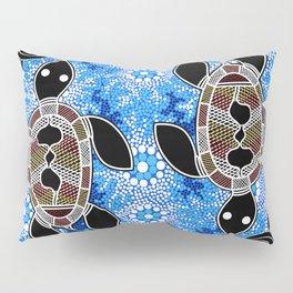 Sea Turtles - Authentic Aboriginal Art Pillow Sham