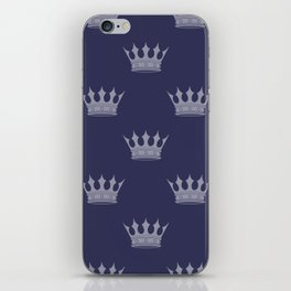 Royal Blue with Light Blue Crowns iPhone Skin