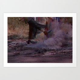 Lovers Wasteland Art Print