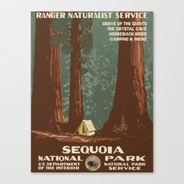 Sequoia National Park - WPA Vintage Poster Canvas Print