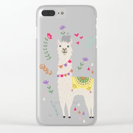 Festive Llama Clear iPhone Case