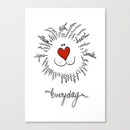 You make my heart smile everyday Canvas Print