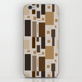 Retro Squares in Browns and Golds iPhone Skin