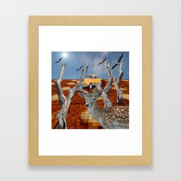 Visitor to the well paved forest Framed Art Print