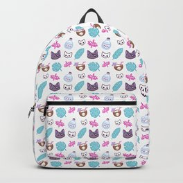 Pirate Cat // White Backpack