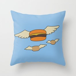 Bob's Burgers Flying Hamburger picture Throw Pillow