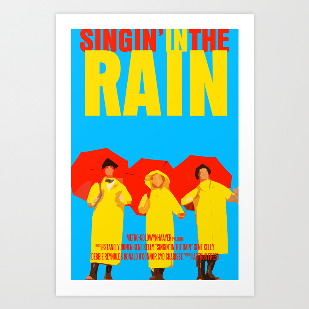 Singin In The Rain Art Print by Funnyfaceart PRN732416
