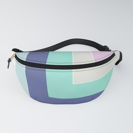 Simple geometric patchwork Fanny Pack