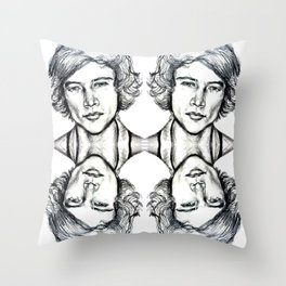 Harry Styles Collage Throw Pillow