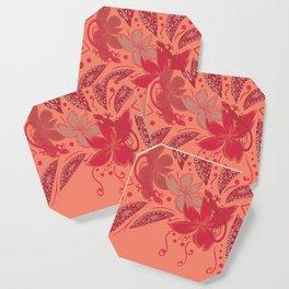Samoa Watermelon Polynesian Floral Coaster