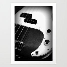Bass Guitar - I Art Print