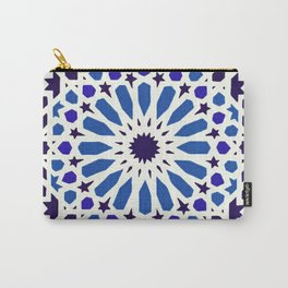 V19 Epic Light Blue Traditional Moroccan Pattern Design . Carry-All Pouch