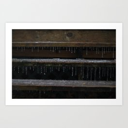Ice on Stairs Art Print