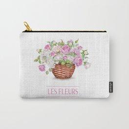 Les Fleurs Basket Carry-All Pouch