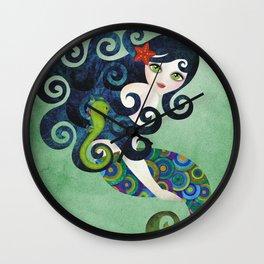 Aquamarine Mermaid Wall Clock