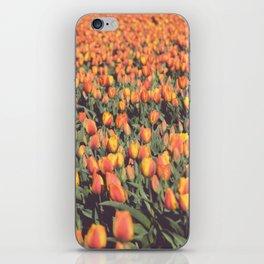 Tulips field #1 iPhone Skin