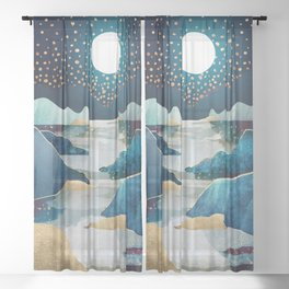 Moon Glow Sheer Curtain