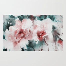 Liquid rose Rug