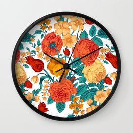 Vintage flower garden Wall Clock