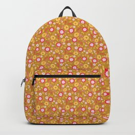 Autumn floral - mustard, ochre Backpack