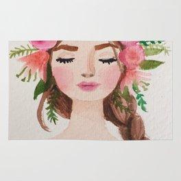 BEAUTIFUL FLOWER CROWN GIRL Rug