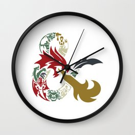 Dungeons & Dragons Wall Clock