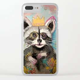 Whimsy Racoon Clear iPhone Case