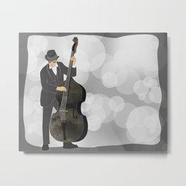Double Bass Metal Print