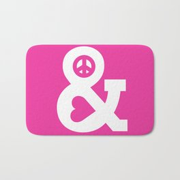 Peace and Love (pink edition) Bath Mat