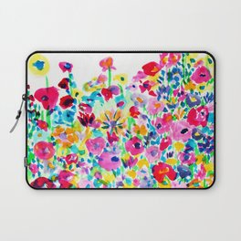 Flower Fields Pink Laptop Sleeve
