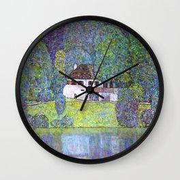 """Gustav Klimt """"Schloss Kammer on the Attersee III"""" Wall Clock"""